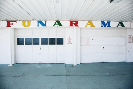 "white red and yellow wall decor ""Funarama"""