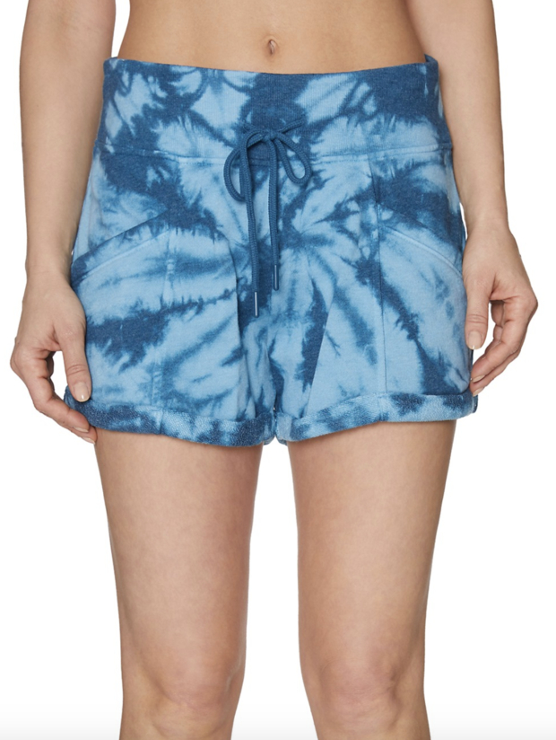 tie-dyed-cotton-blend-shorts