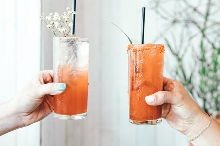 Cheers with cocktails