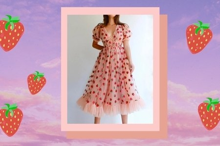 Lirika Matoshi strawberry dress