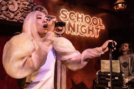 Rina Sawayama performing at School Night at Bardot Hollywood in Los Angeles