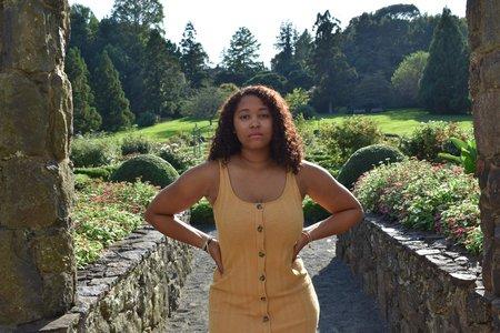 Myself posing in a garden