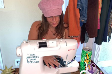 Vanessa with sewing machine