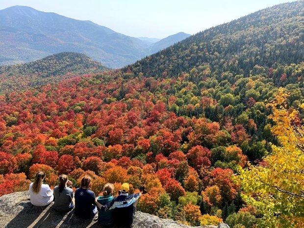 ADK Mountain Top in Fall