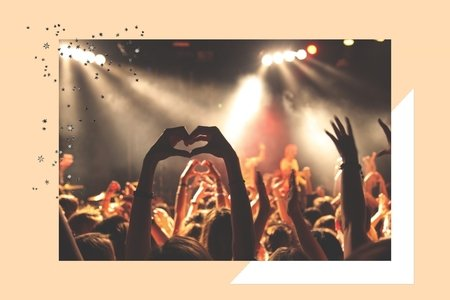 fans with hands in the air
