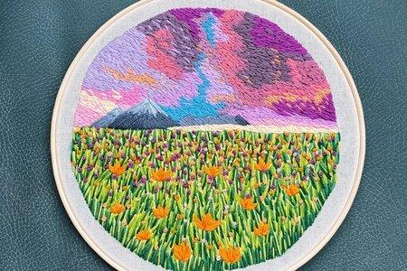 handmade landscape embroidery
