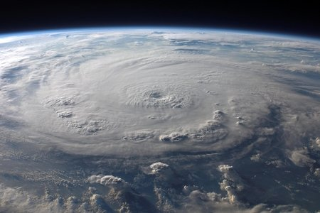 Hurricane taken from outer space