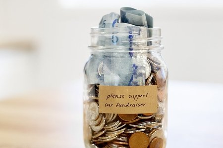 Please support our fundraiser jar with money