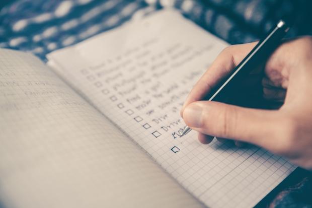 To-do, list, paper, pen, journal