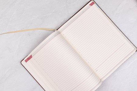 Opened Paper Notebook