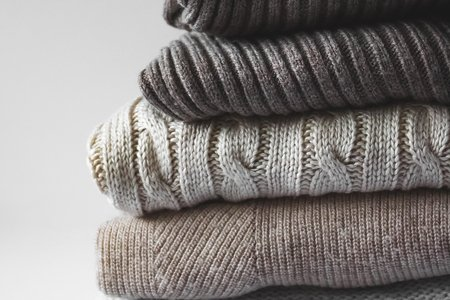 knit sweater stack