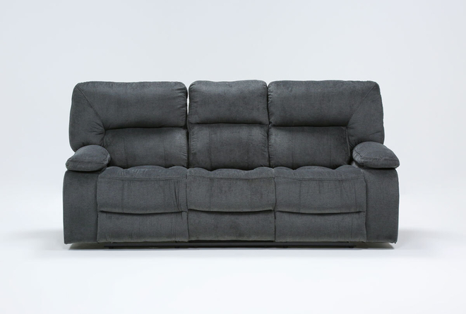 "Chadrick Grey Triple 87"" Reclining Sofa - 360"
