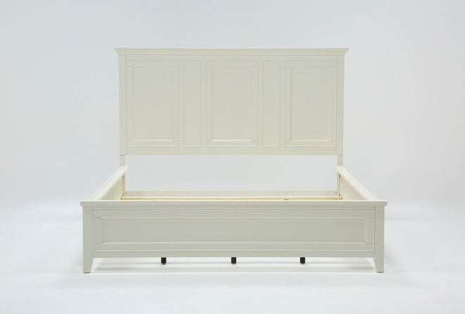 Presby White Eastern King Panel Bed - 360