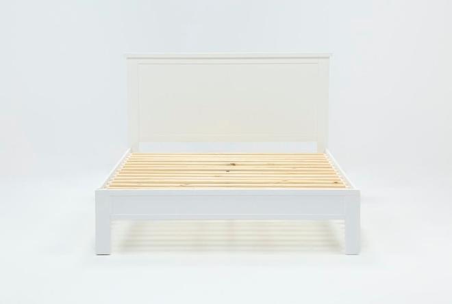 Larkin White Eastern King Panel Bed - 360