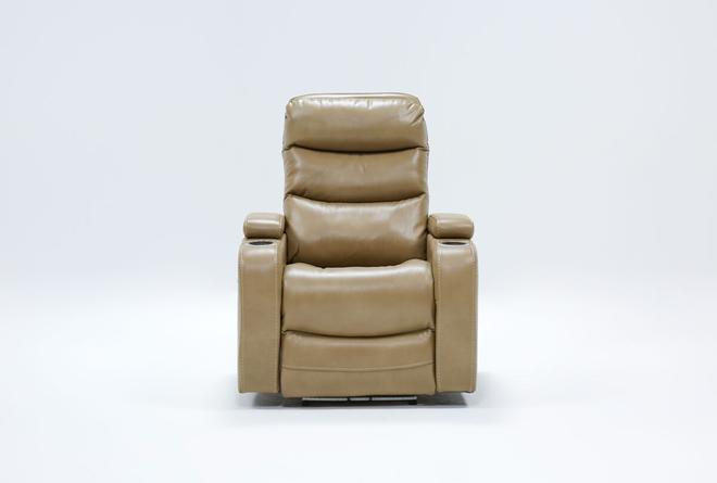 Waylan Linen Home Theater Power Wallaway Recliner With Adjustable Headrest - 360