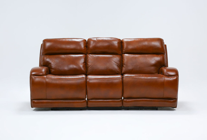 Victor Chestnut Zero Gravity Power Reclining Sofa With Power Headrest & Lumbar - 360