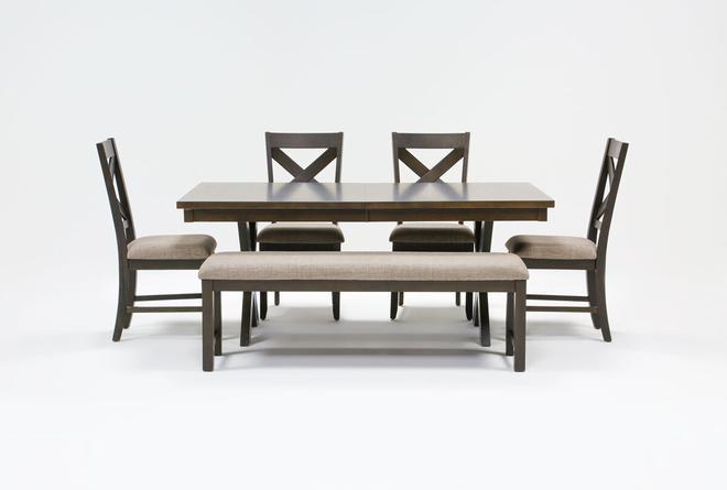 Pollie 6 Piece Extension Dining Set - 360