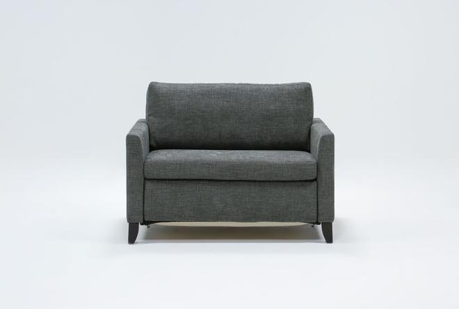 """Mikayla Graphite 48"""" Twin Sofa Sleeper - 360"""