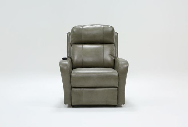 Seville Leather Power Lift Recliner With Massage & Power Headrest - 360