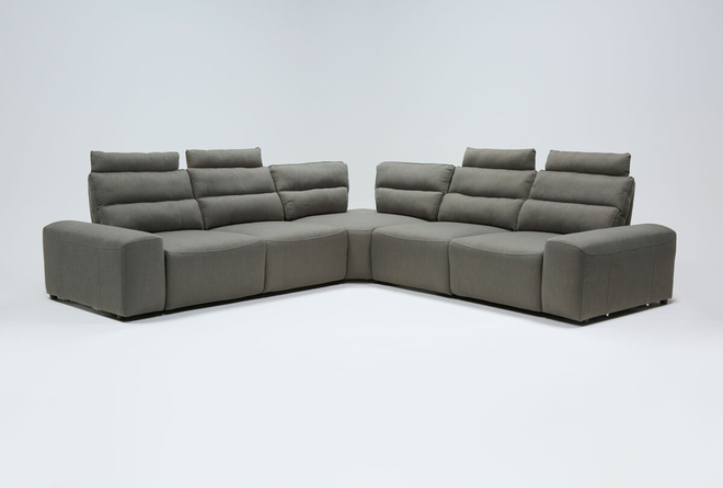 "Sagan 7 Piece 134"" Power Reclining Sectional With 2 Armrests - 360"