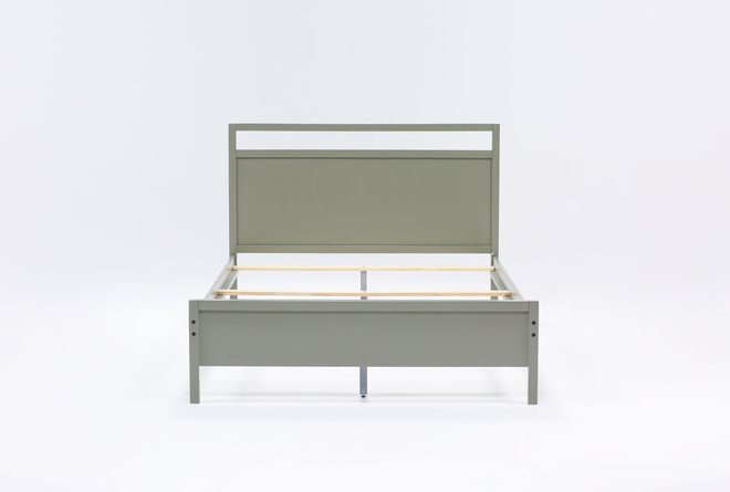 Reese Grey Full Panel Bed - 360