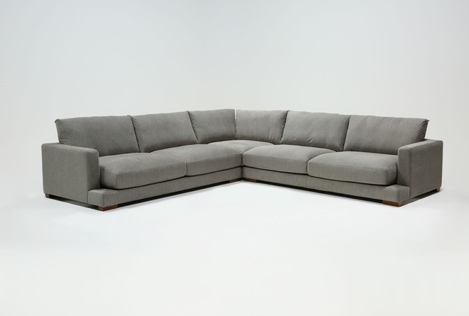 """Lindsey 3 Piece 129"""" Sectional - 360"""