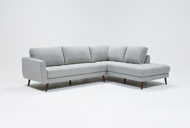 "Ginger Grey 2 Piece 110"" Sectional With Right Arm Facing Chaise - 360"