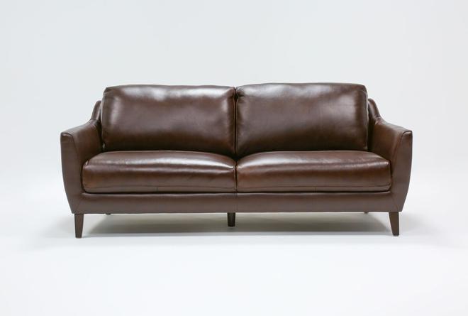 """Gigi Leather 81"""" Sofa - 360"""