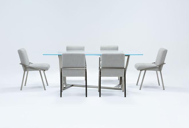 Daphne Glass 7 Piece Dining Set - 360