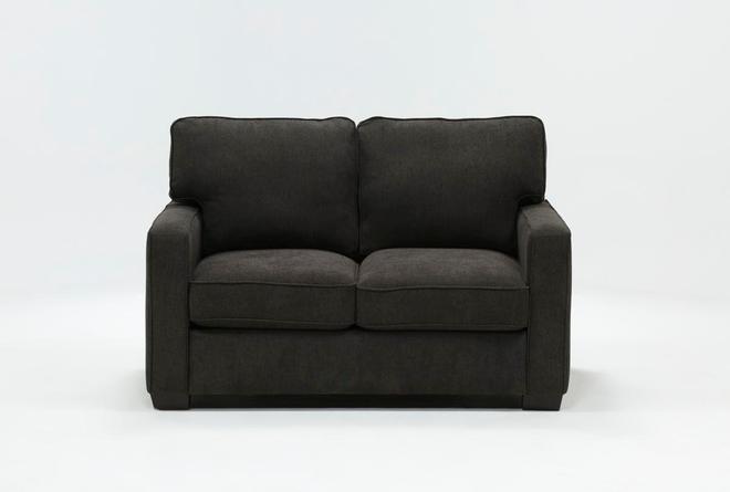 Morris Charcoal Twin Sleeper Sofa With Memory Foam Mattress - 360
