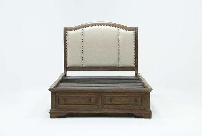 Chapman Eastern King Sleigh Bed With Storage - 360