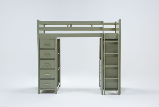 Reese Grey Loft Bed - 360