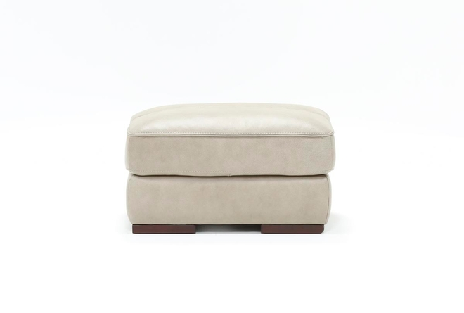 Molly Leather Ottoman - 360