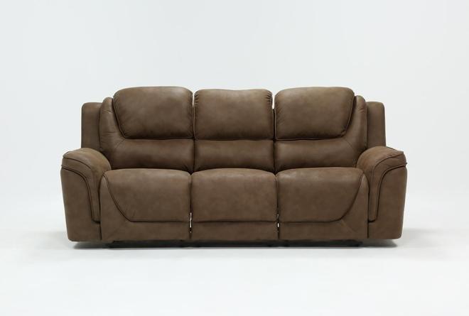 Denver Fawn Power Reclining Sofa With Power Headrest & Usb - 360