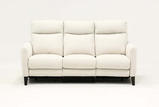 Melina Bisque Power Reclining Sofa With Usb - 360