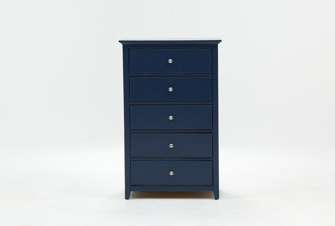 Taylor Navy Chest Of Drawers - 360