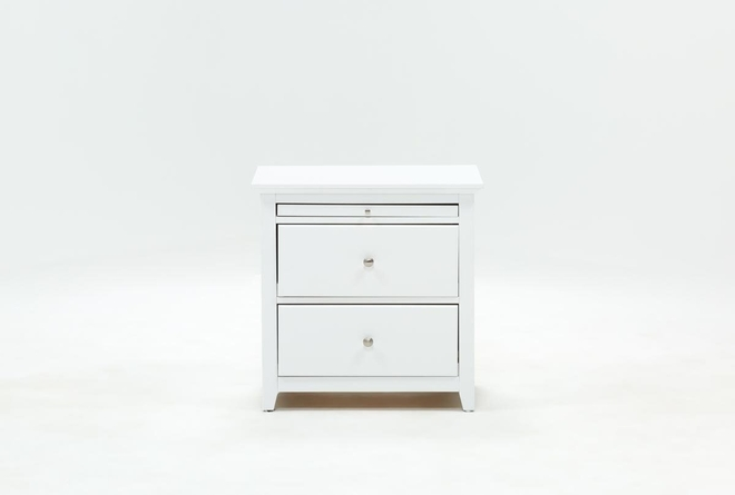 Taylor White Nightstand - 360