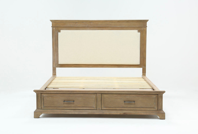 Whitney Eastern King Panel Bed With Storage - 360