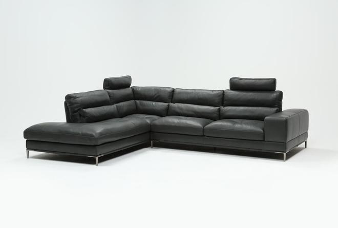 Tenny Dark Grey 2 Piece Laf Chaise Sectional W/2 Headrest - 360
