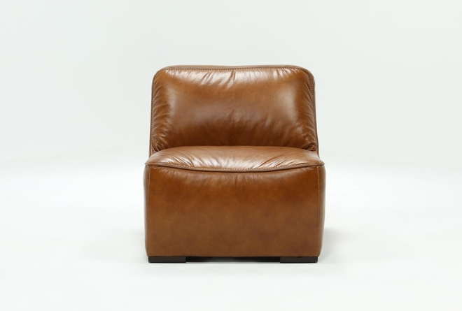 Burton Leather Armless Chair - 360