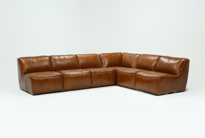 Burton Leather 3 Piece Sectional - 360