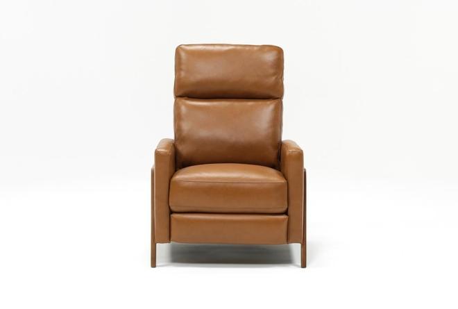 Daniel Nutmeg Leather Pressback Recliner - 360