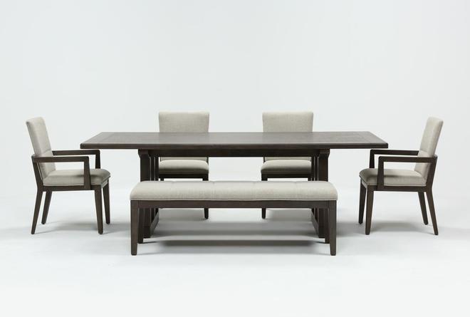 Helms 6 Piece Rectangle Dining Set - 360