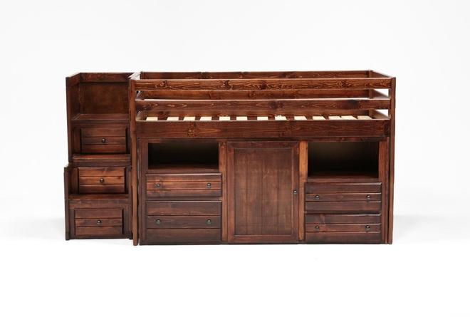 Sedona Junior Loft Storage Bed With Junior Stair Chest - 360