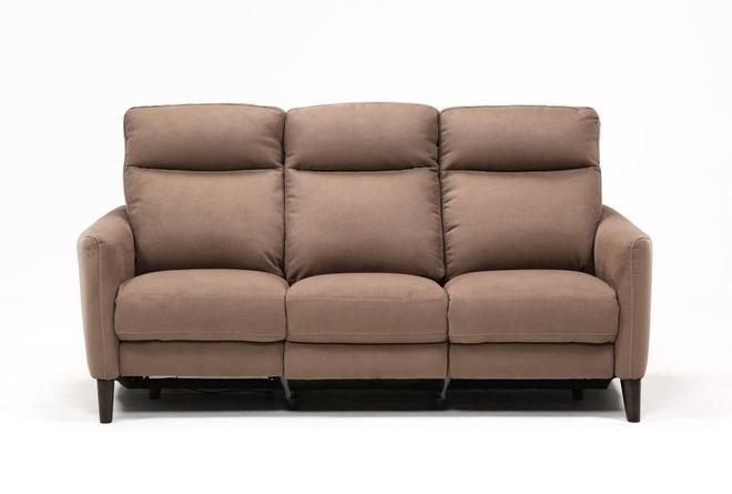 Melina Cocoa Power Reclining Sofa W/Usb - 360