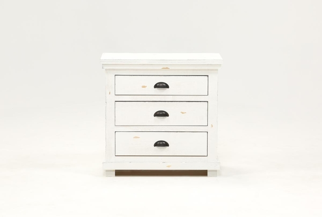 Sinclair White Nightstand - 360