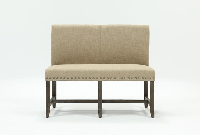Jaxon Grey Upholstered High Back Bench - 360