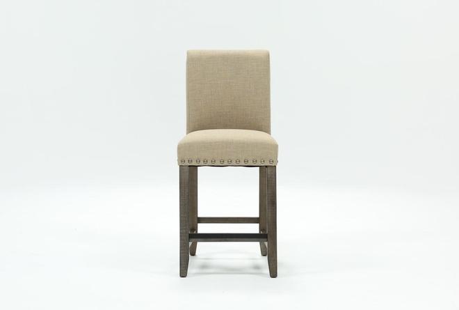 Jaxon Grey Fabric Counter Stool - 360