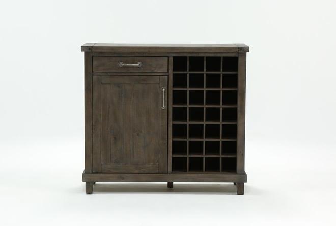 Jaxon Grey Wine Cabinet - 360