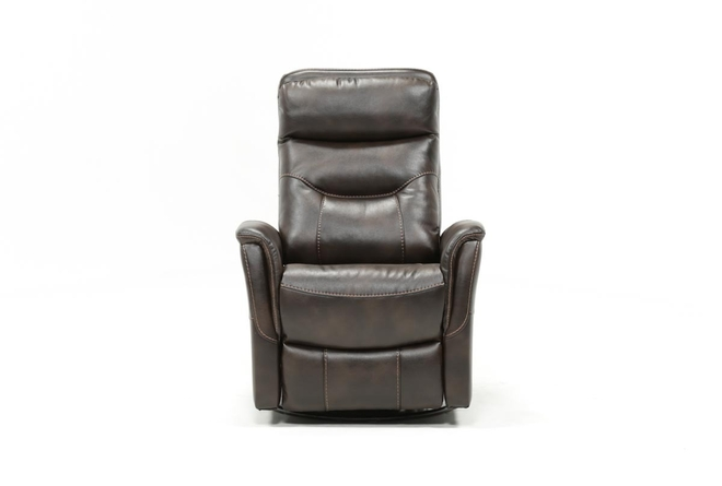 Gannon Truffle Power Swivel Recliner W/Built-In Battery - 360
